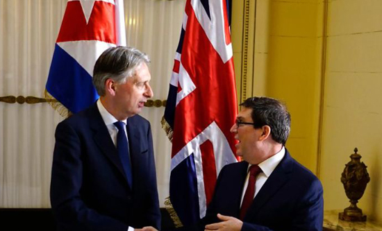 Philip Hammond and bruno rodriguez